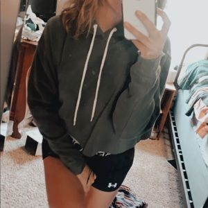 🦋2 for $17🦋 Green Crop Hoodie